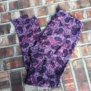 LuLaRoe Pants - LuLaRoe Leggings - Purple Paisley